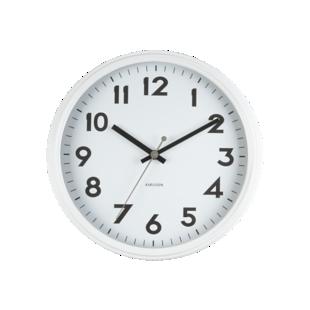 FLY-horloge d40cm blanc