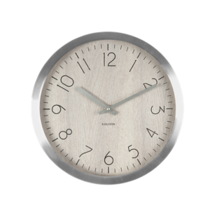 FLY-horloge d64cm bois/aluminium