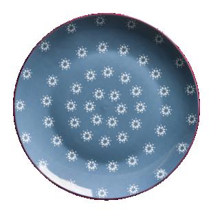 FLY-assiette plate d27cm bleu