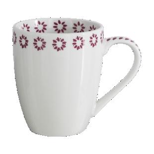FLY-mug 30cl blanc/bordeaux