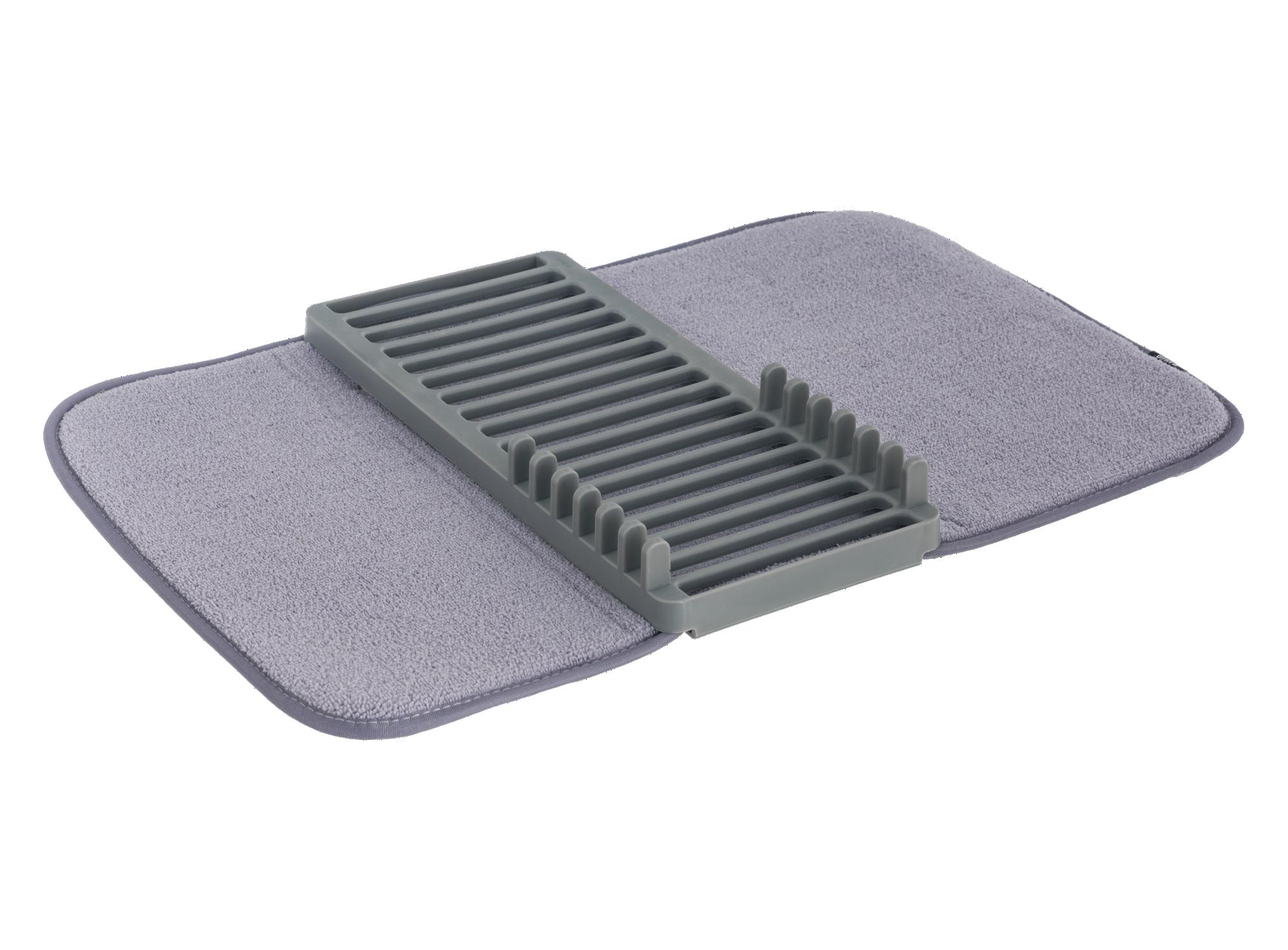 Egouttoir 34.29x20.32cm avec tapis de sechage absorbant en microfibr ...