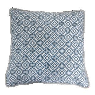 FLY-coussin coton 40x40 blanc et gris clair