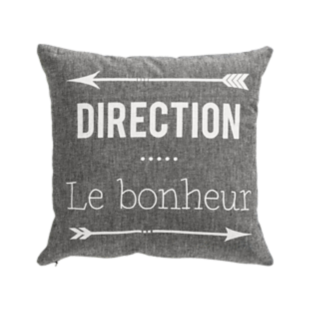 FLY-coussin coton 40x40 anthracite