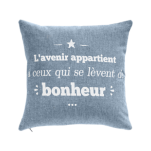 FLY-coussin coton 40x40 marine