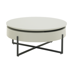 FLY-table basse rotative laque gris