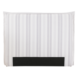 FLY-tete de lit tissu raye blanc/gris