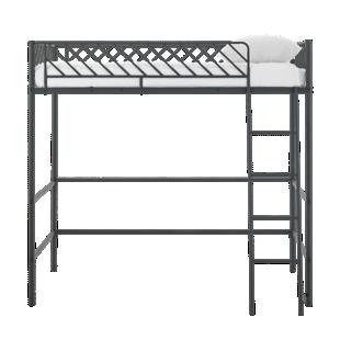 FLY-lit mezzanine 90x190cm metal noir