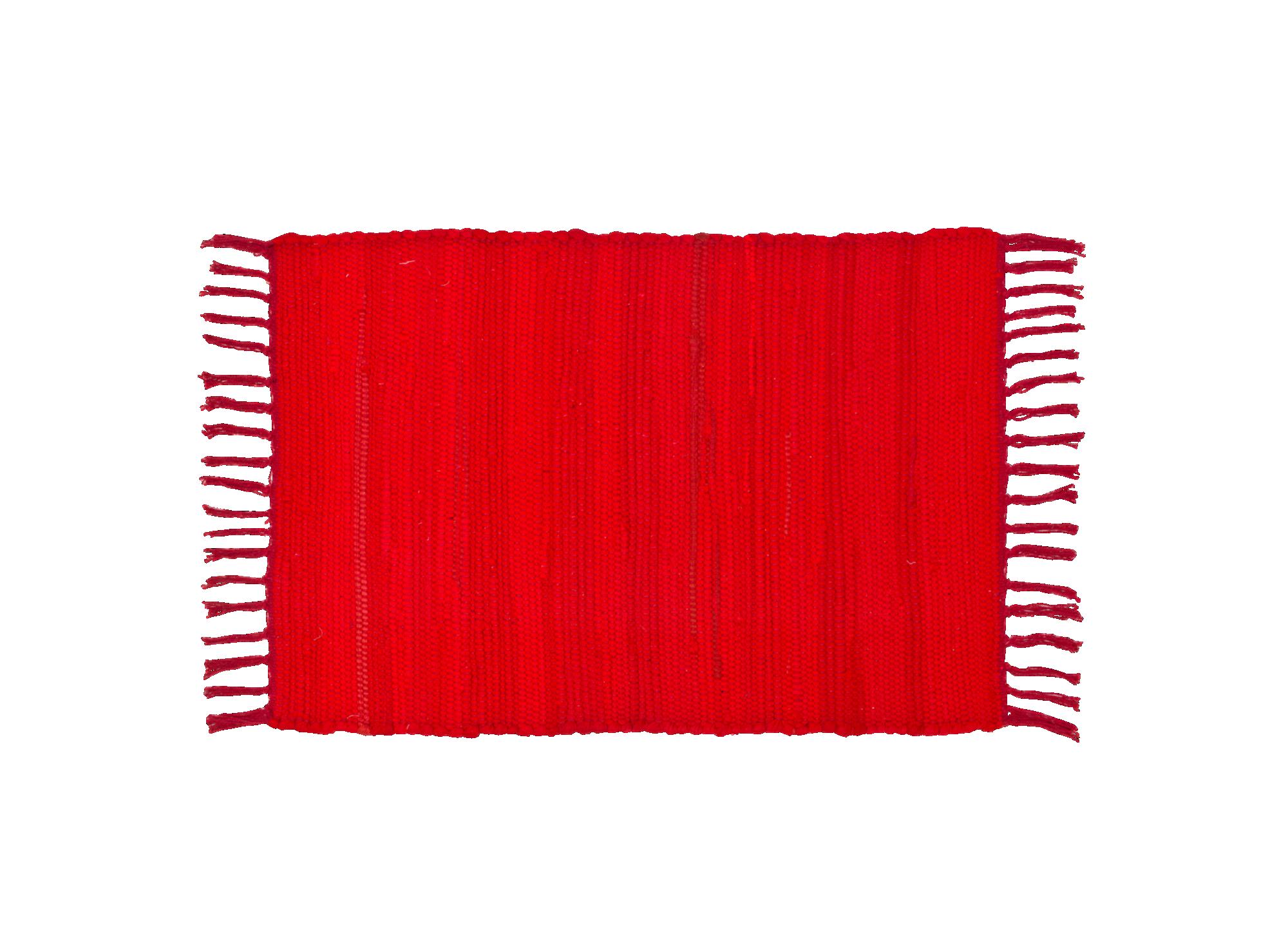 Tapis 50x70 90% coton 10% autres fibres coloris rouge densite 1600gr/ ...