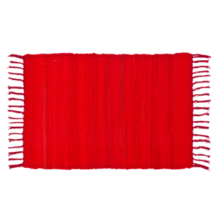 FLY-tapis coton 50x70 rouge