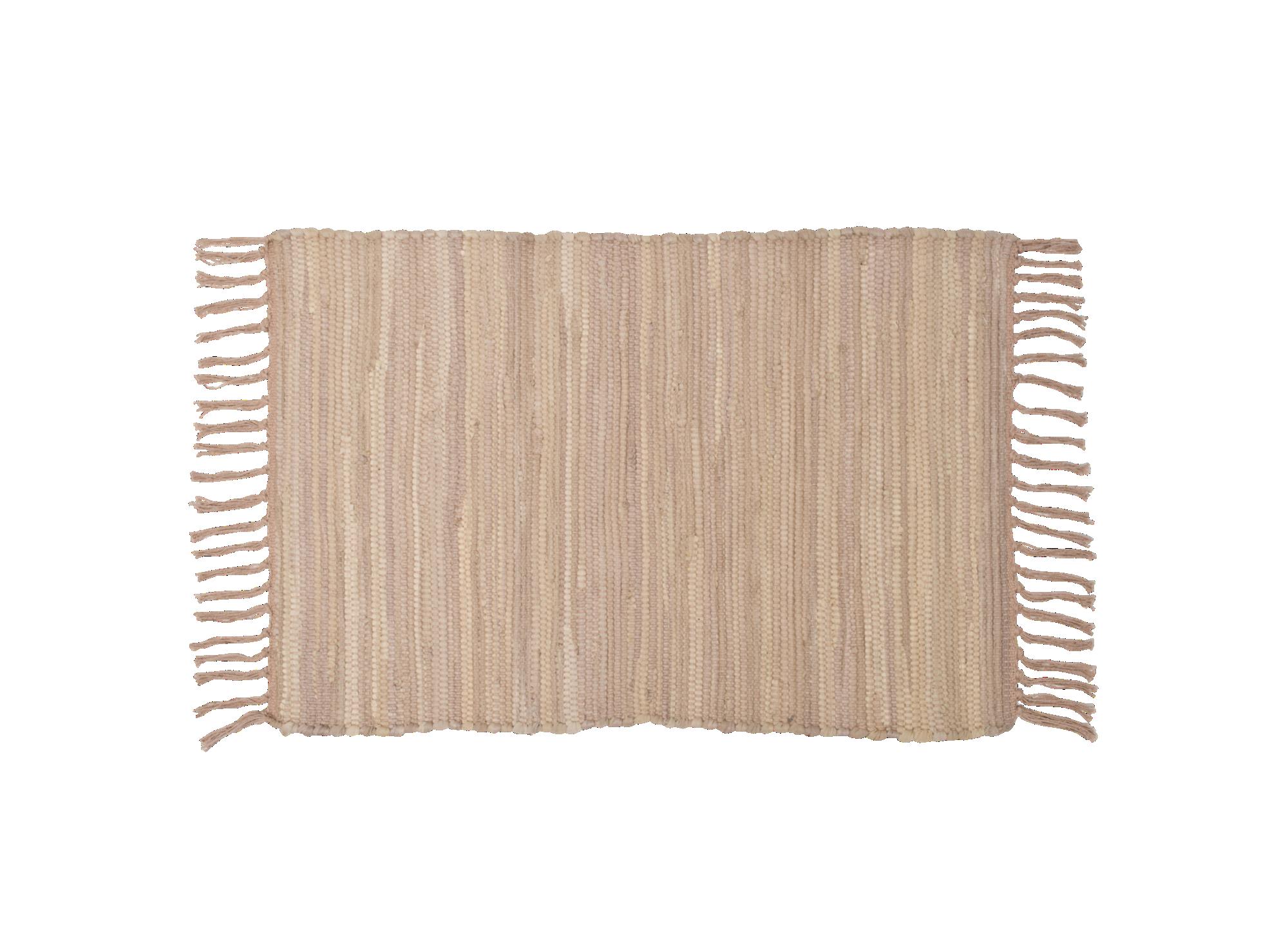 Tapis 50x70 90% coton 10% autres fibres coloris taupe densite 1600gr/ ...