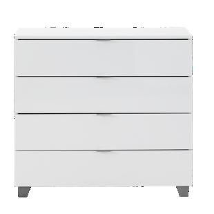 FLY-commode 4 tiroirs blanc brillant