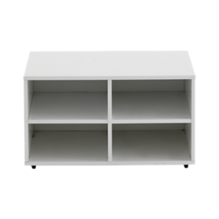 FLY-caisson 4 cases a roulettes laque blanc