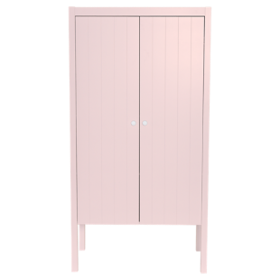 FLY-armoire 2 portes laque rose