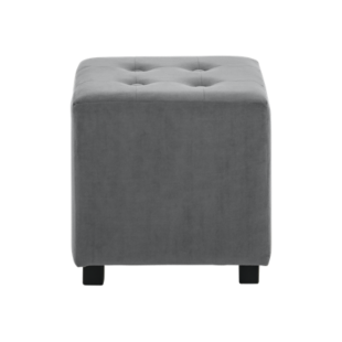 FLY-pouf velours gris