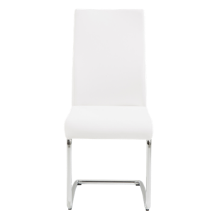 Chaise assise grise pieds inox fly for Chaise blanche pied inox