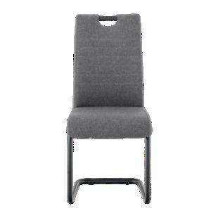 FLY-chaise tissu anthracite pied luge noir