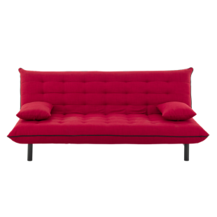 FLY-banquette lit tissu rouge
