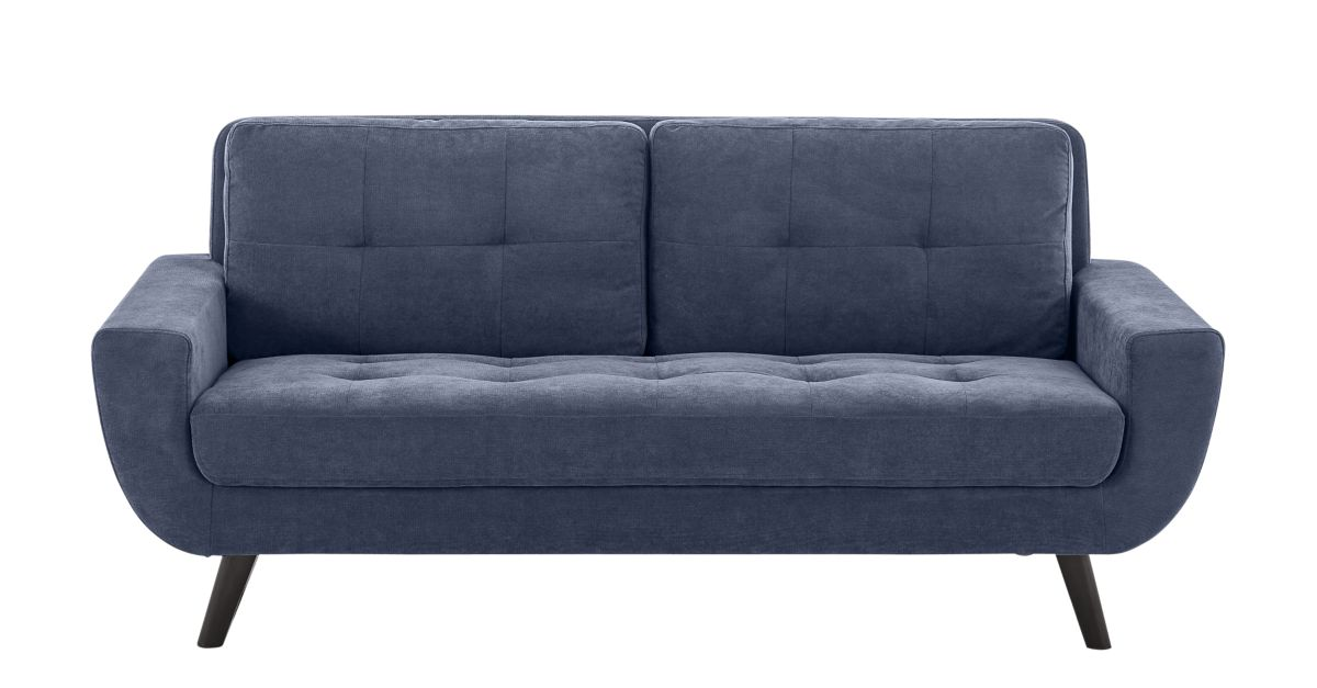 Canape fixe 3 places tissu bleu fly for Canape relax fly