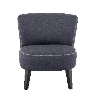 FLY-fauteuil tissu gris surpique blanc