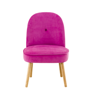 FLY-fauteuil tissu rose