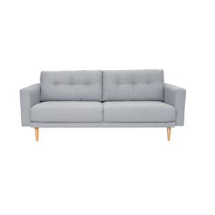 FLY-canape 3 places tissu gris clair