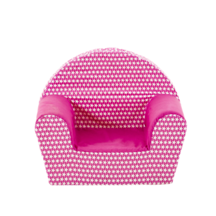 FLY-fauteuil enfant tissu rose