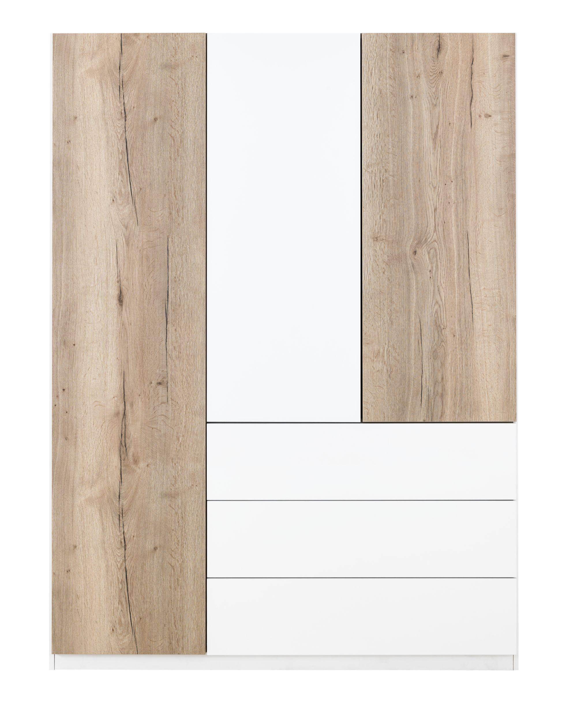 Armoire 3 portes blanc chene Armoire Chambre Meuble