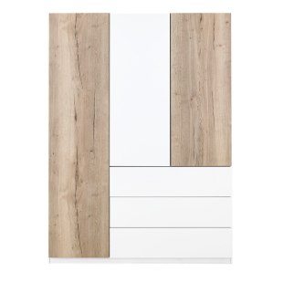 armoire 2 portes l120 p61 blanc armoire chambre. Black Bedroom Furniture Sets. Home Design Ideas