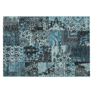 FLY-tapis 160x230 turquoise/gris