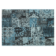 Tapis 160x230 100% polypropylene coloris turquoise/gris (dessin) dens ...