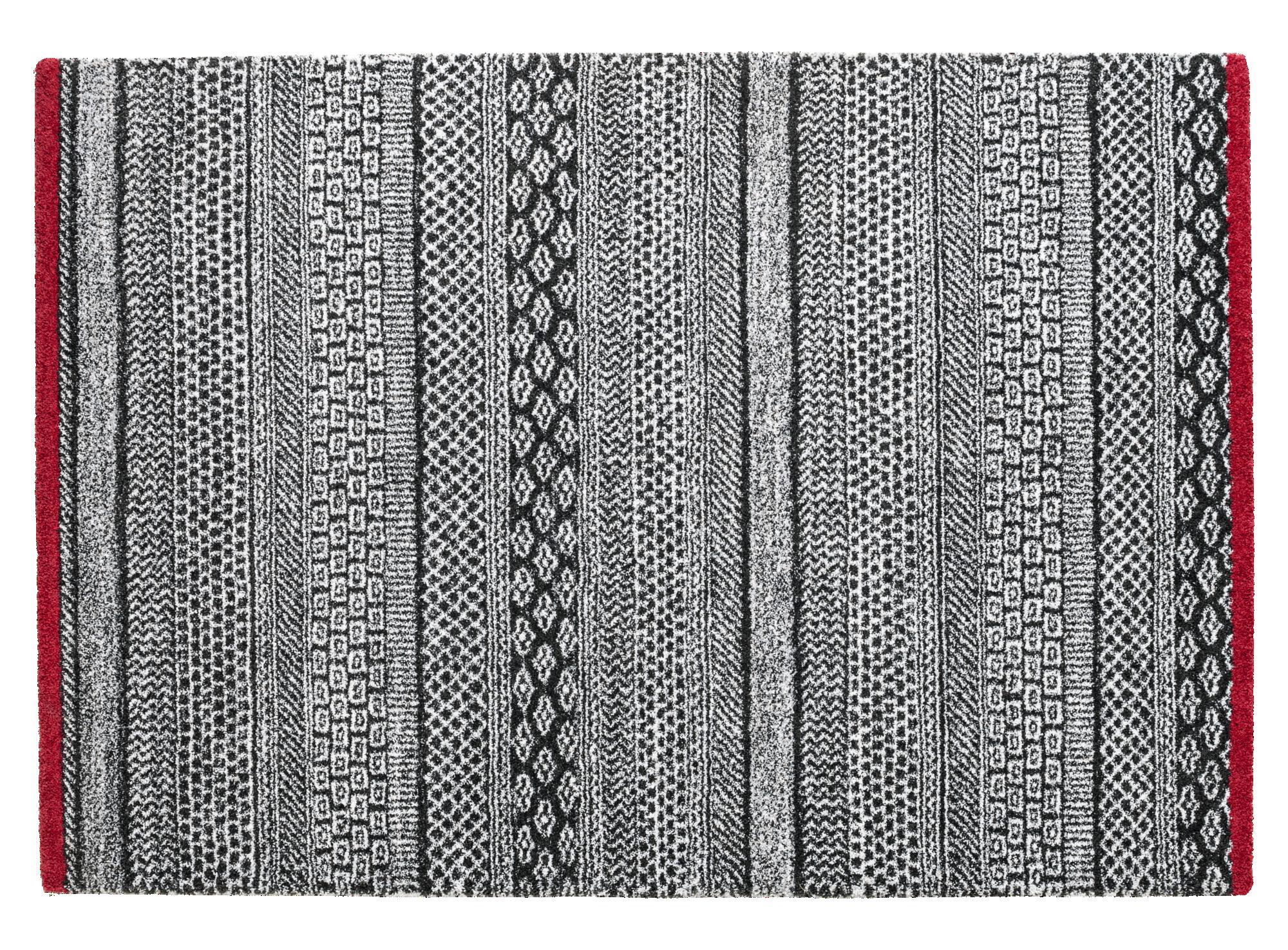 Tapis 160x230 100% polypropylene coloris antracite/gris clair densite ...