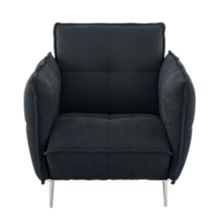 FLY-fauteuil tissu noir