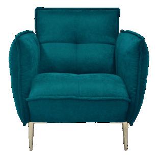 FLY-fauteuil tissu bleu