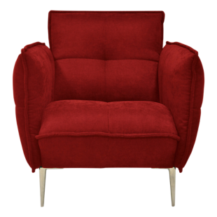 FLY-fauteuil tissu rouge