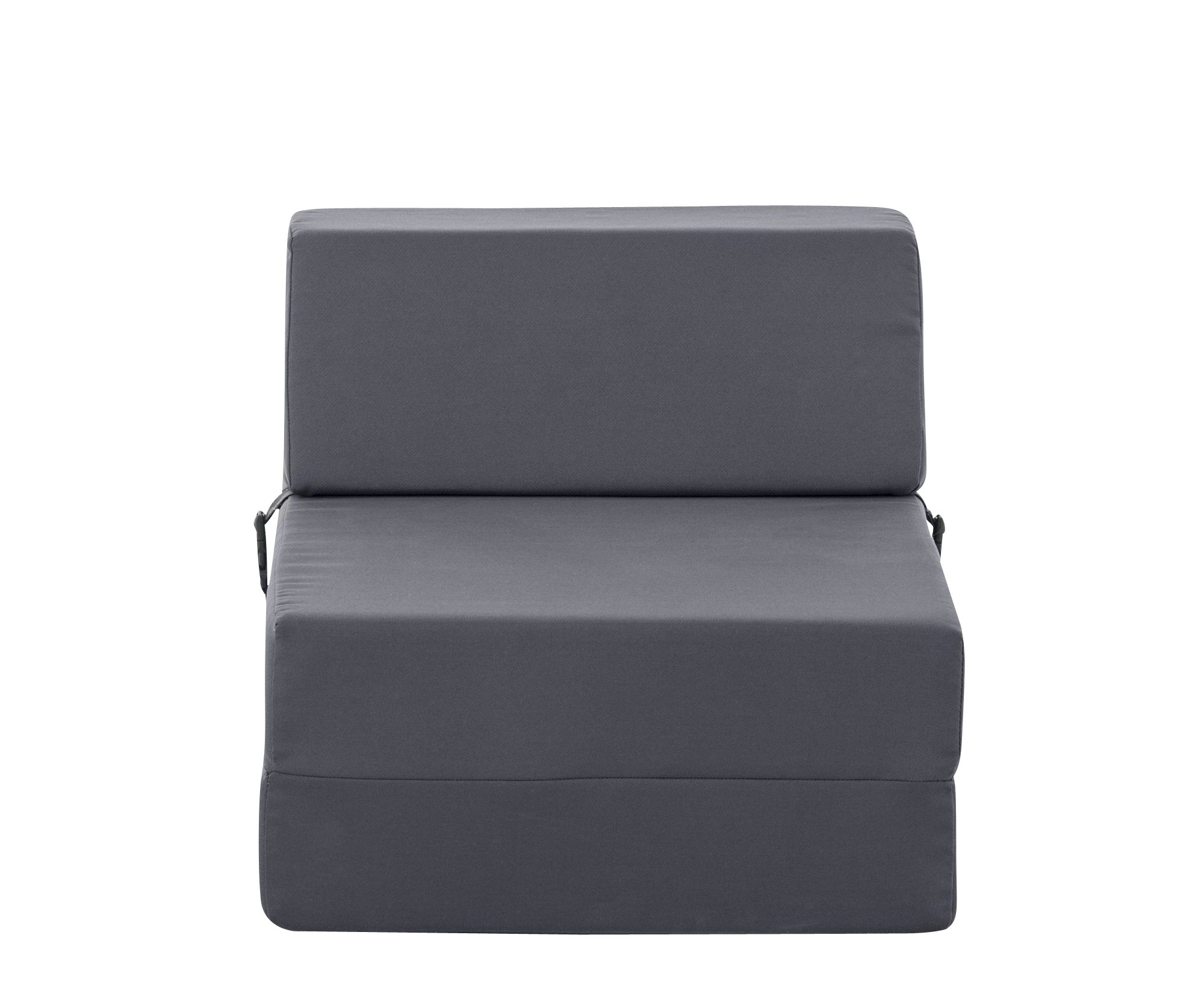 Chauffeuse 1 place tissu gris anthracite