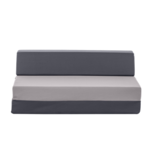 FLY-chauffeuse 2 places tissu gris anthracite / gris c