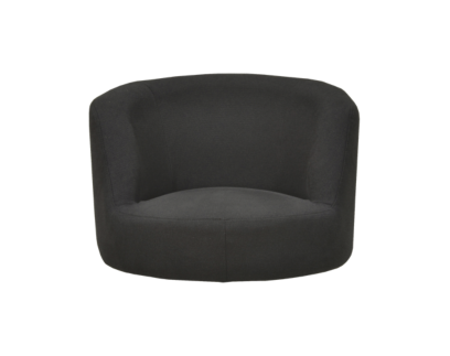 coque fauteuil tissu gris anthracite   Fly