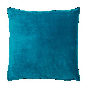 FLY-coussin velours 60x60 bleu canard