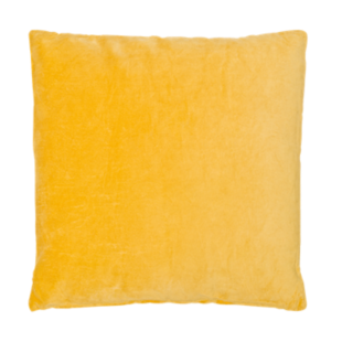 FLY-coussin velours 60x60 moutarde