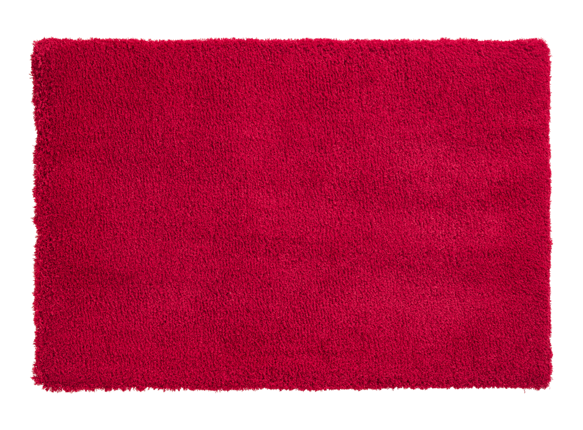 Tapis 60x90 100% polyester coloris rouge densite 1800gr/m2  non lavab ...