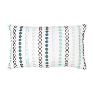FLY-coussin coton 30x50 brode/vert