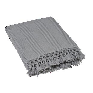 FLY-plaid coton 130x160 gris