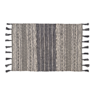 FLY-tapis coton 60x90 noir/anthracite