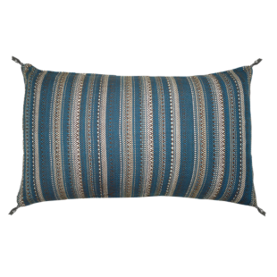 FLY-coussin coton 30x50 bleu/beige