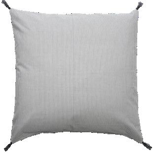 FLY-coussin coton 60x60 iv/noir