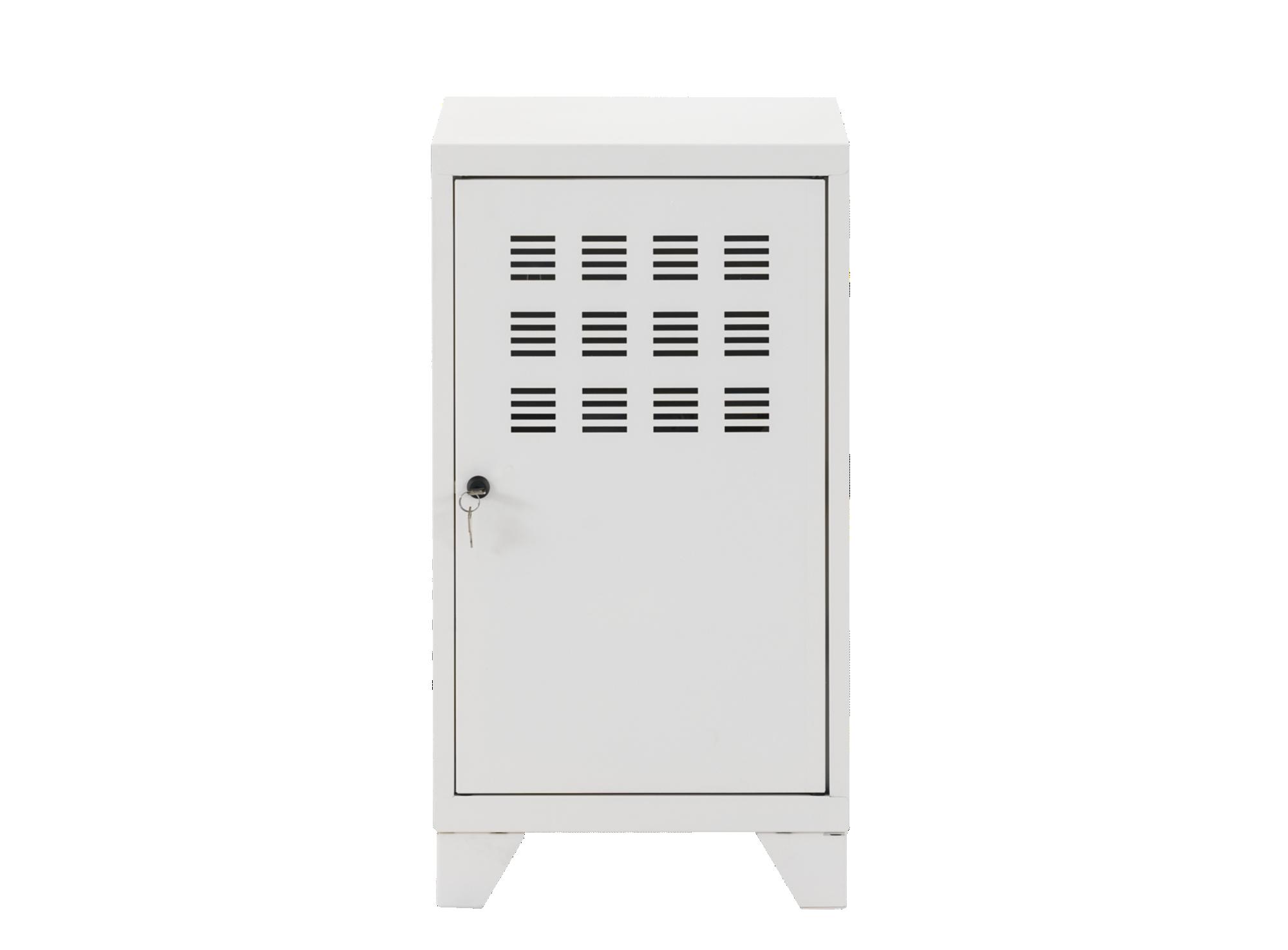 Rangement 1 porte h75 metal blanc meuble de rangement for Porte serviette fly
