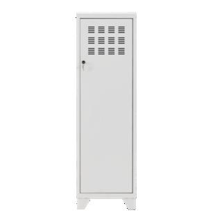 FLY-rangement 1 porte h134 metal blanc