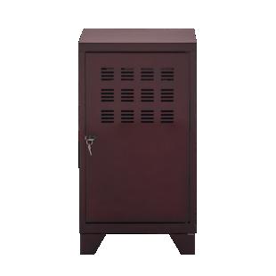 FLY-rangement 1 porte h75 metal vernis bordeaux