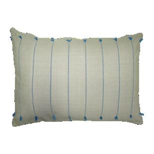 FLY-coussin coton 30x50 naturel/bleu