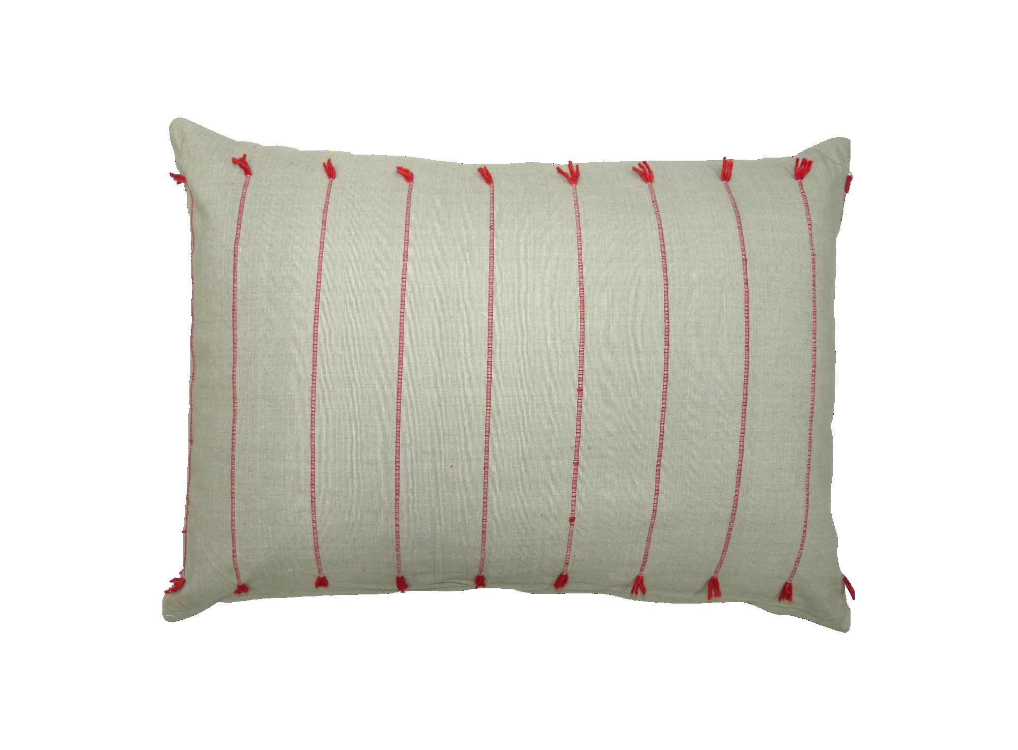 Coussin 30x50 revetu 100% coton garni 100% polyester coloris naturel/ ...